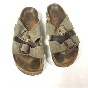 Birkenstock Arizona Suede Slip On Sandal